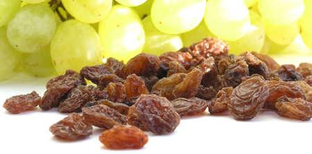 raisins /grapes in background/