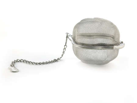 tannin: tea strainer  isolated on white background