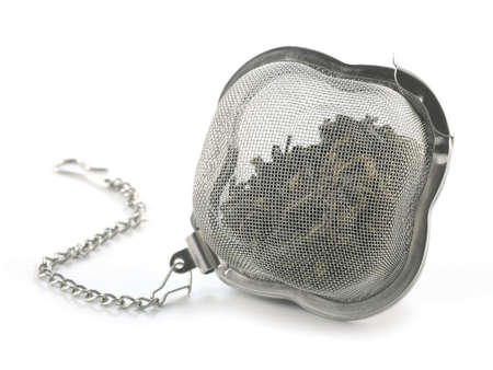 strainer: tea strainer  isolated on white background