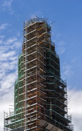 High-rise scaffolding