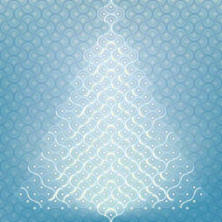 Seamless Christmas tree background organic pattern wrap  Vector