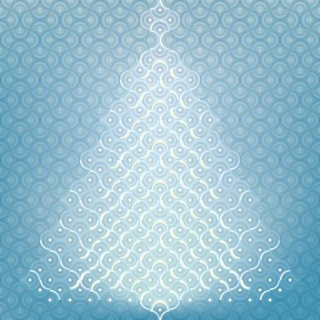 Seamless Christmas tree background organic pattern wrap
