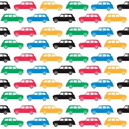 London - symbols - cab in olympics colours Vector