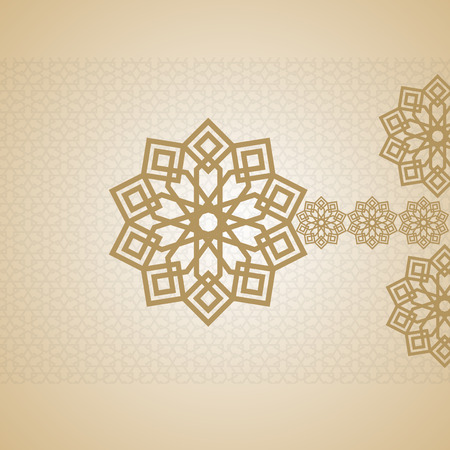 broun: islamic EID Mubarak Card arabic design