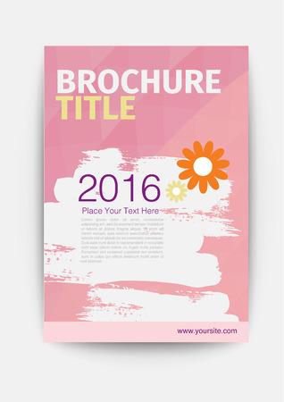 scratch: scratch pink brochure report cover template