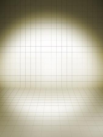 spot light: prespective grid brown creative shadow with spot light