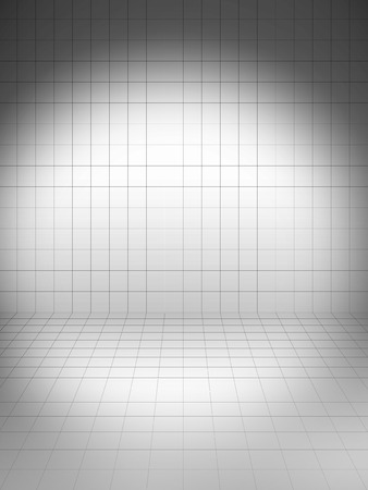 spot light: Perspective grid background grey with spot light