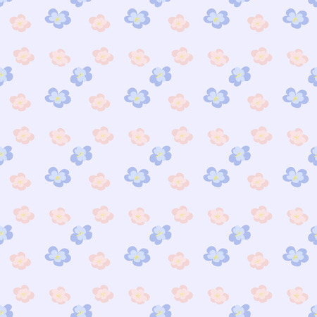 Pale Pink Floral Seamless Wallpaper Stock Vector