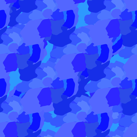stil: Blue abstract elements scattered over a seamless pattern