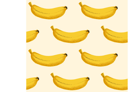 exotica: Seamless background with yellow vector bananas