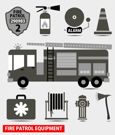 patch of light: fire fighting equipment