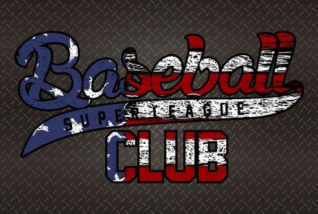 malibu: american baseball typography print Illustration