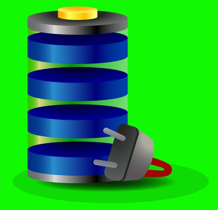 rn: charged battery icon Illustration