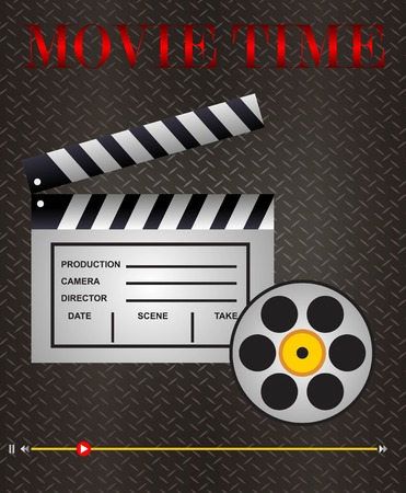 movie clip icon and illustration Vector