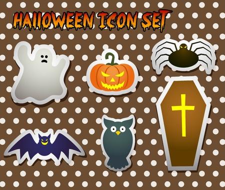 rn: cute halloween label Illustration