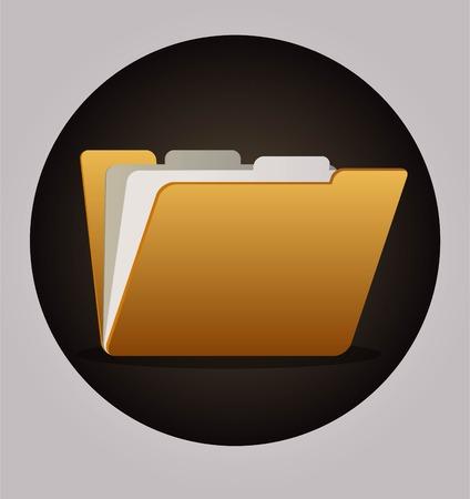 maintain: Yellow file folder icon