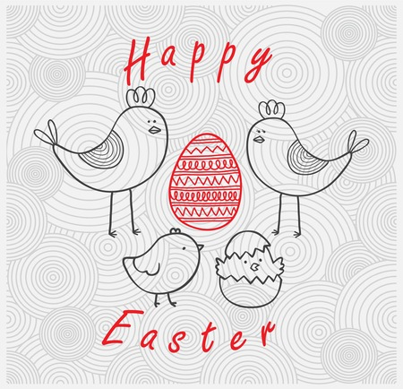 easter story card Vector