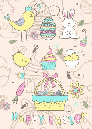 easter story with fun color Vector