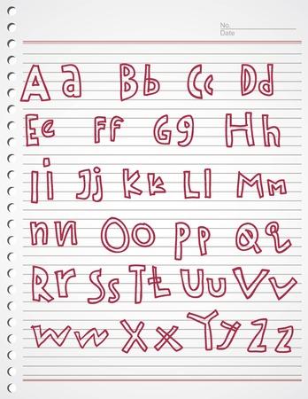 kiddies: kiddies alfabeto del doodle