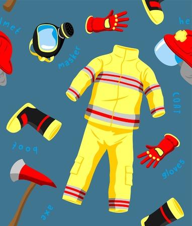fire fighter: FIRE FIGHTER PATTERN Illustration