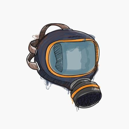 army gas mask: HAZARD MASK Illustration