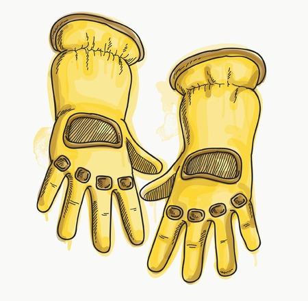 safety gloves: SAFETY GLOVES Illustration