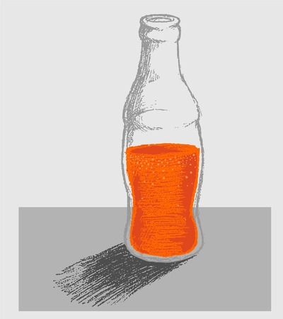 softdrink: a bottle of softdrink doodle vector Illustration