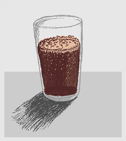 softdrink: a glass of softdrink doodle vector Illustration