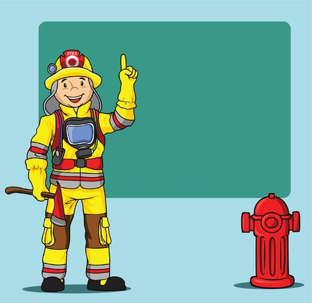 fire and water: FIREMAN CARTOON PRESENTATION