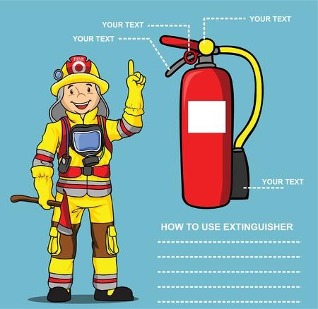 FIREMAN PRESENTATION EXTINGUISHER