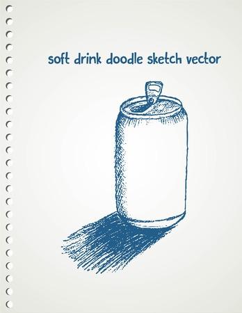 soft: soft drink sketch vector on blank paper Illustration