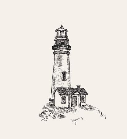 light  house: anchor and light house