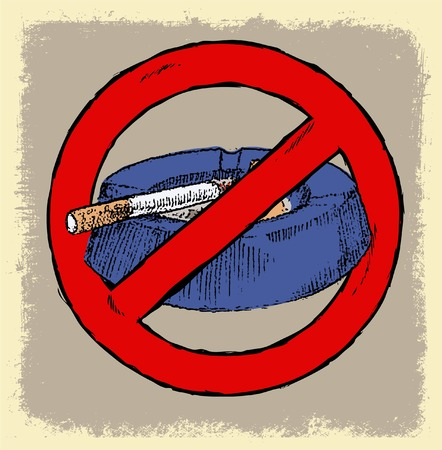 no smoking area sign or symbol doodle poster Vector