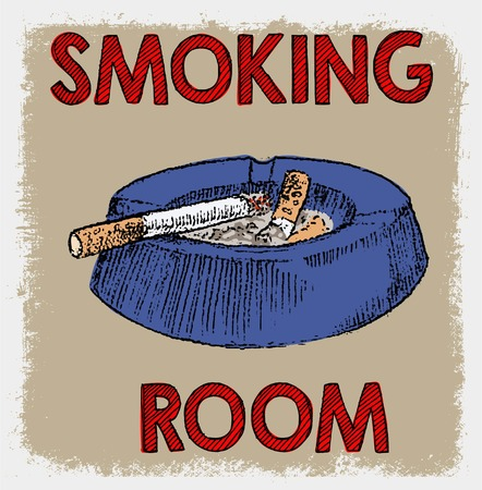 interdiction: smoking area sign or symbol doodle poster