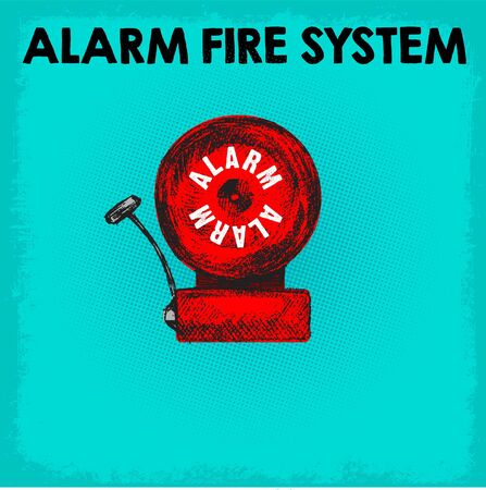 ALARM FIRE SYSTEM DOODLE ICON