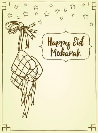 Islamic doddle background - Eid Mubarak