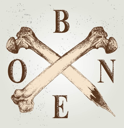 CROSS BONE SKETCH VECTOR OR ELEMENT DESIGN Illustration