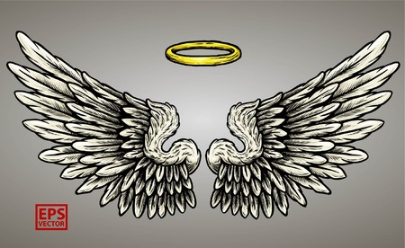 WINGS GRAPHIC VECTOR EDITABLE COLOR ISOLATED