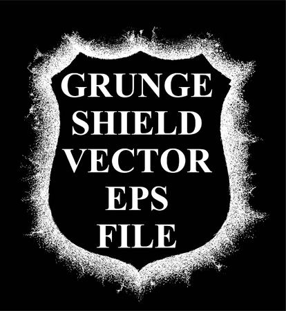 GRUNGE SHIELD VECTOR OR CLASSIC SHIELD TEMPLATE AND ELEMENT DESIGN