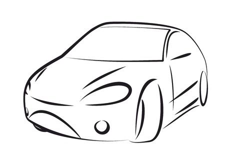 silhouette voiture: couleur de vecteur voiture noire sur fond blanc