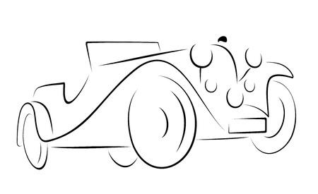 rarity: Vector car black colour on white background