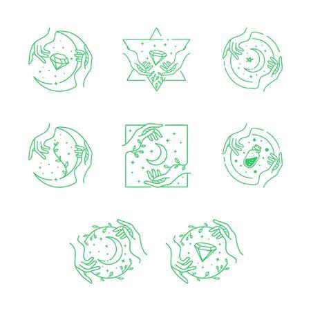 minimal hand crafting Stock Illustratie