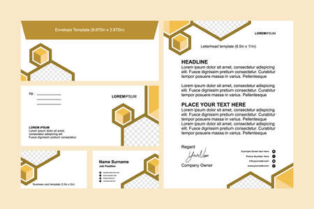 Set of Modern Business Stationery Template Design Vector   Letterhead , Business Cards, Envelope Design Ilustracja