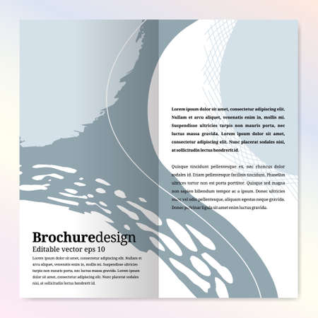 Abstract brochure design template for beauty and fashion