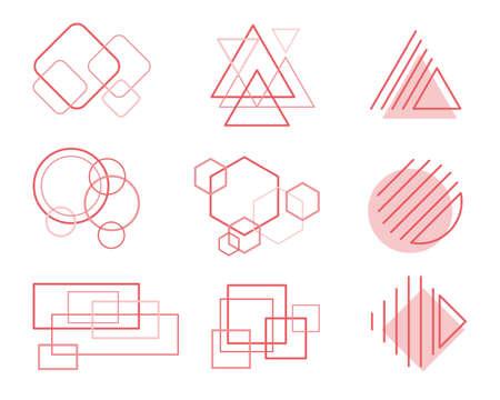 Set of Abstract elements design Vektorové ilustrace