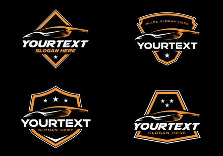 Set of Exotic car logo badge, emblem design template vector