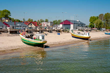 "fisherman, sea, poland, water, baltic, boat, travel, mechelinki, Zatoka GdaÅ""sk Stok Fotoğraf"