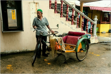 trishaw: Malay Traditional Trishaw Stock Photo