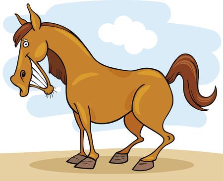 witty: funny farm horse