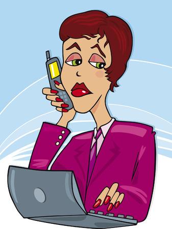 businesswoman working Vector